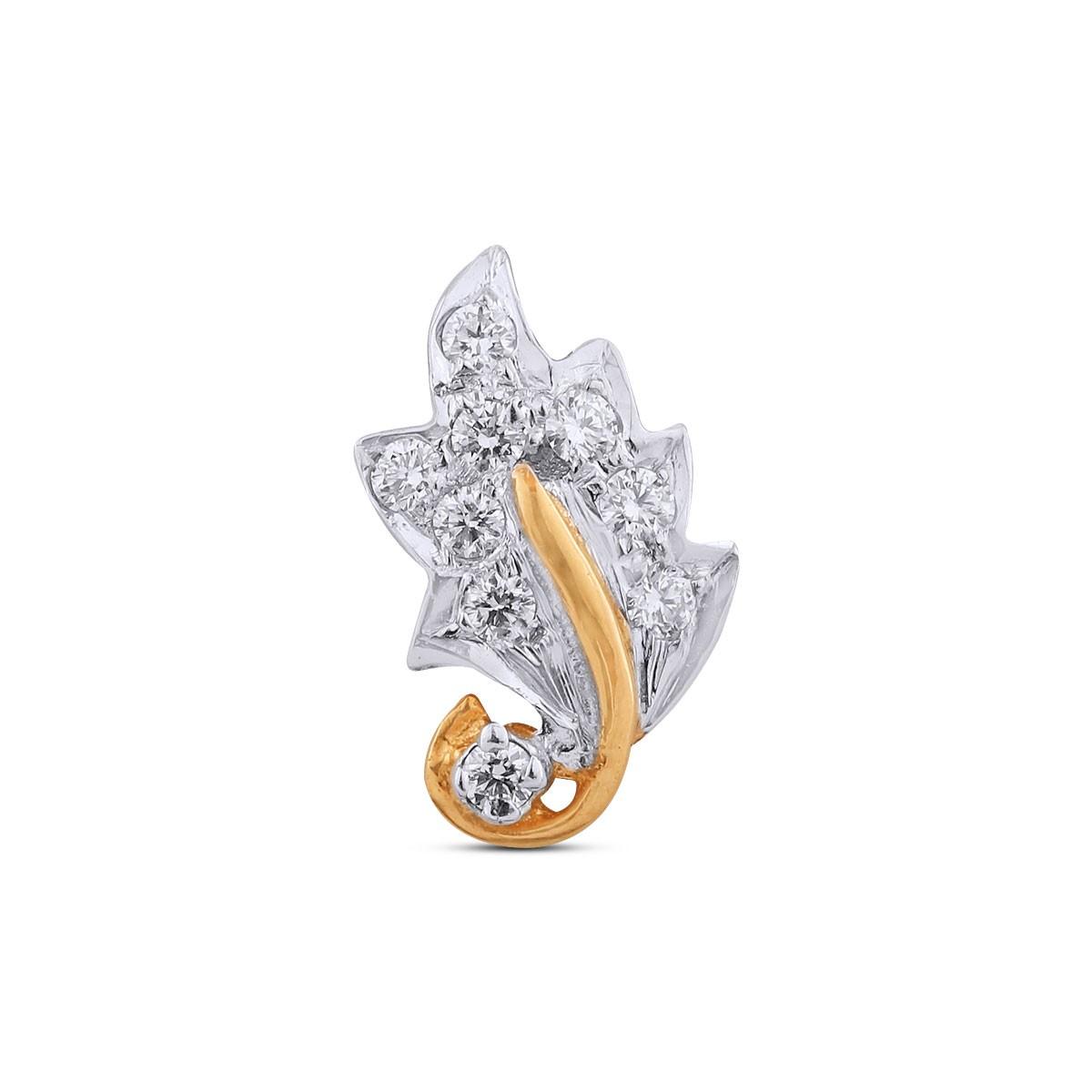 Hrishita Yellow Gold Diamond Nosepin