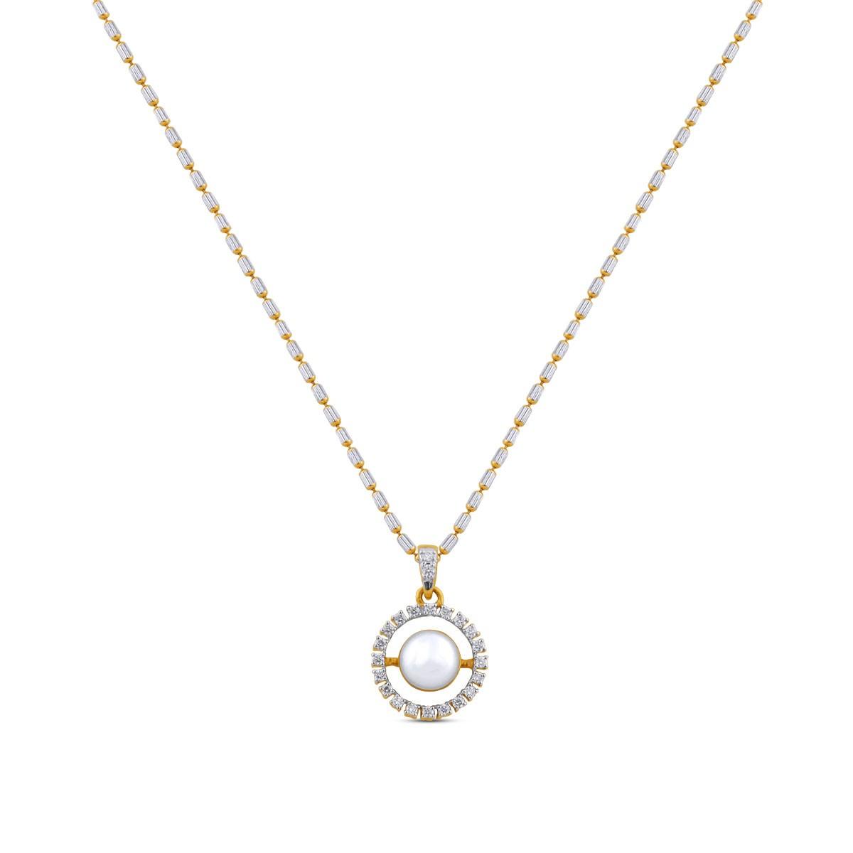 Annello Pearl Diamond Pendant with Chain