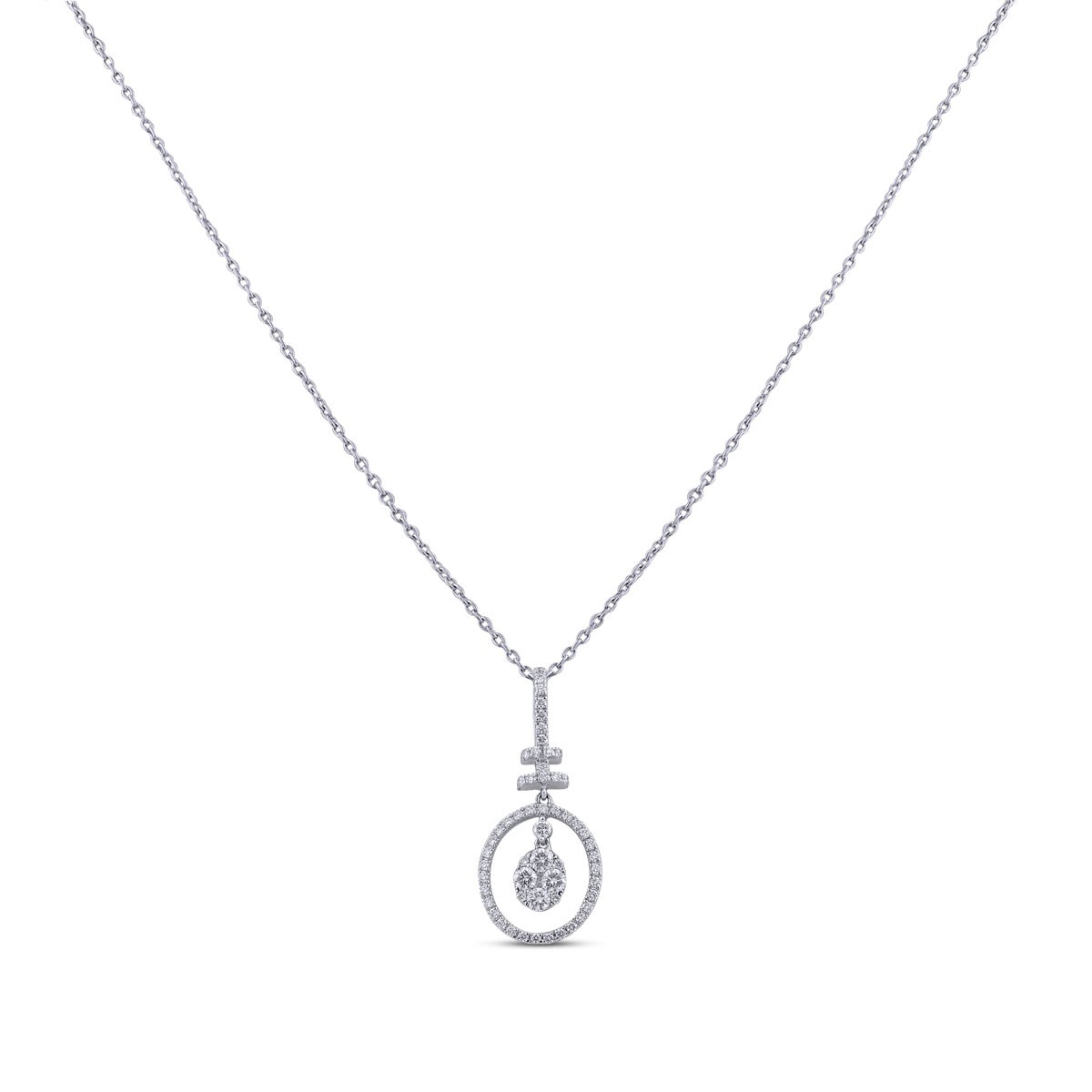 Larisa Diamond Pendant with Chain