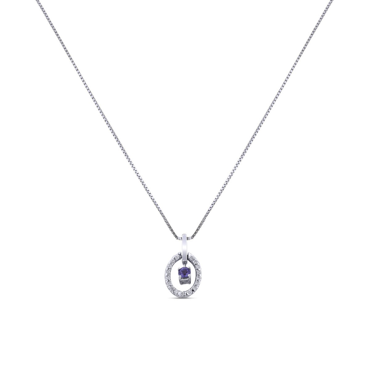 Khloe Diamond Pendant with Chain