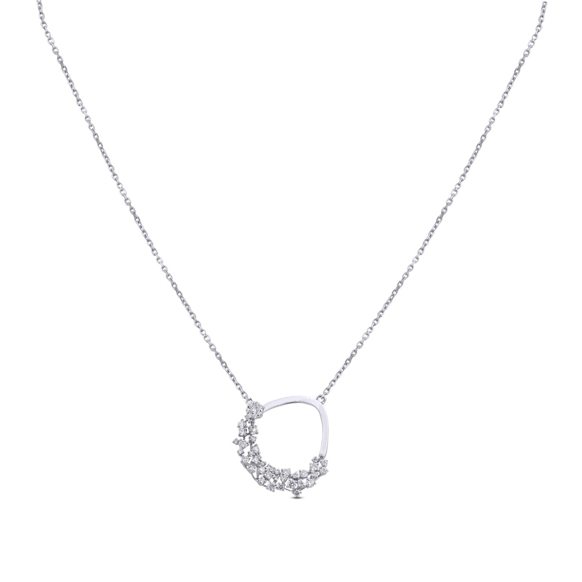 Cecil Diamond & White Gold Pendant with Chain