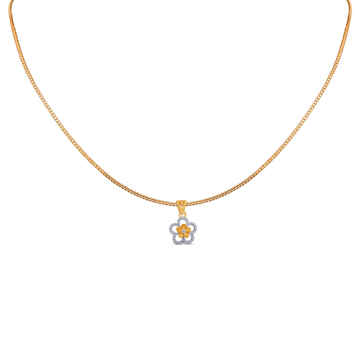 Sara Diamond Pendant with Chain