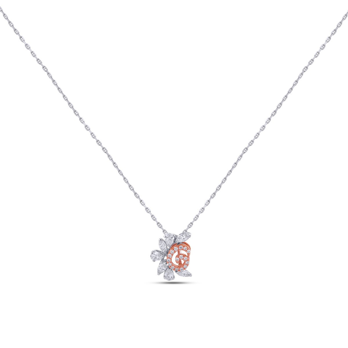 Ileana Diamond & White Gold Pendant with Chain