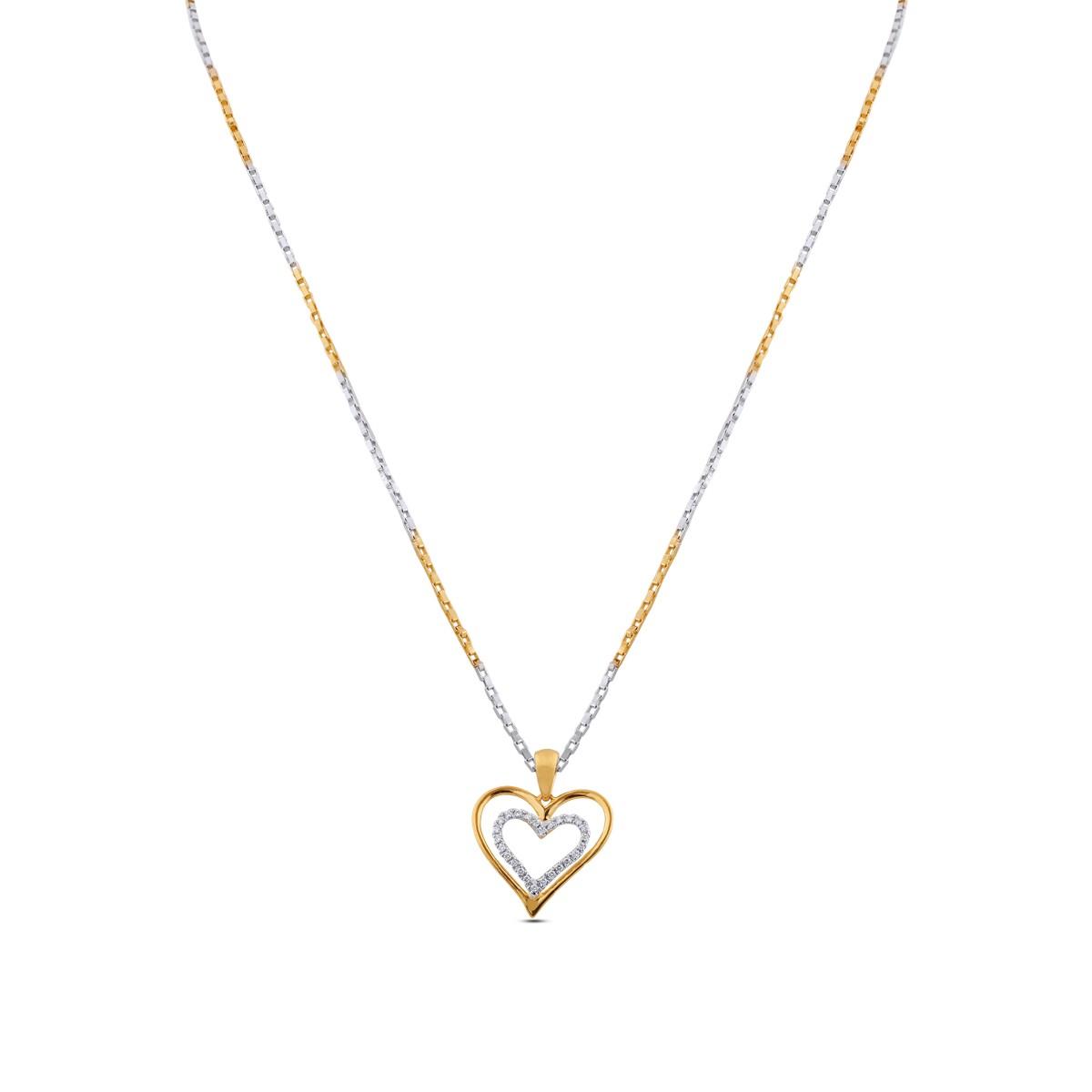 Reyna Diamond Pendant with Chain