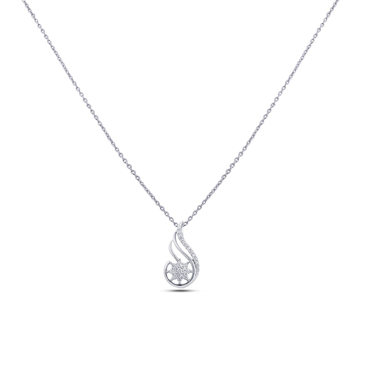 Stavra Diamond Pendant with Chain