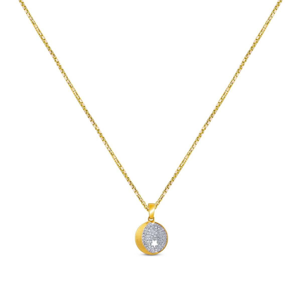 Rheya Diamond Pendant with Chain