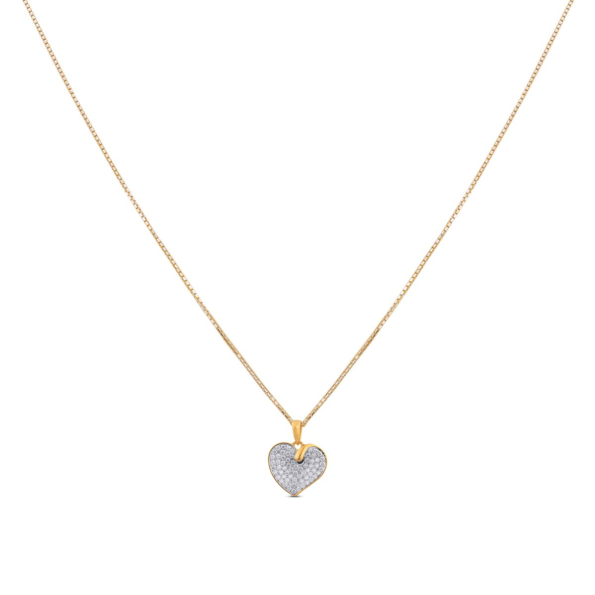 Yasmin Diamond & Yellow Gold Pendant with Chain