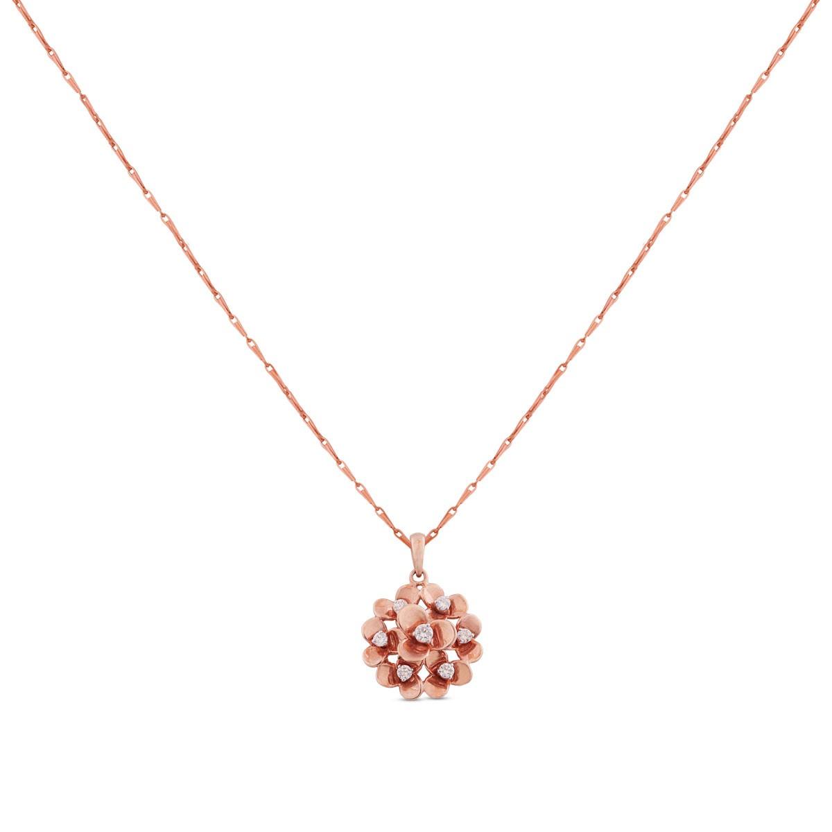 Anemone Diamond Pendant with Chain