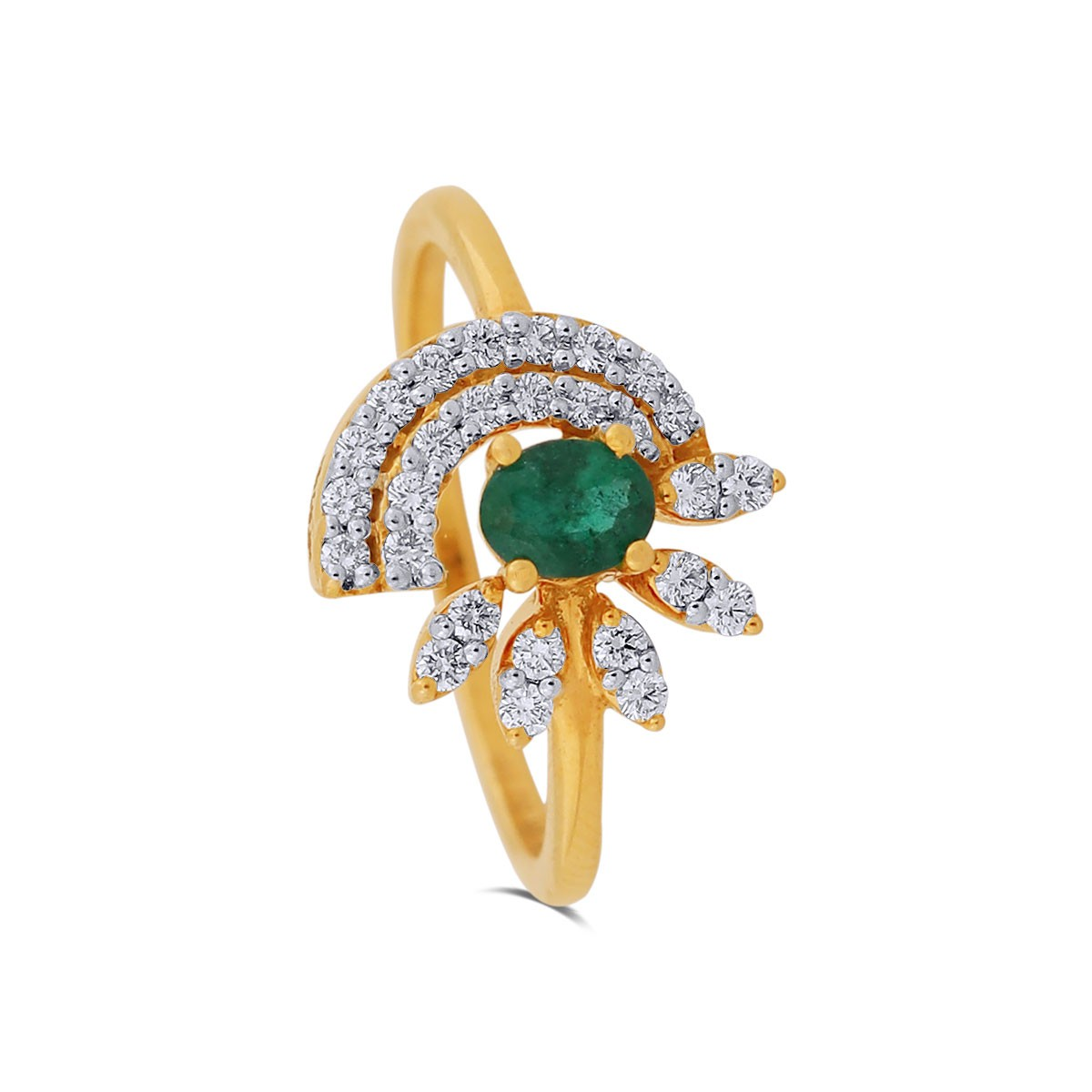 Amelia Yellow Gold Diamond Ring