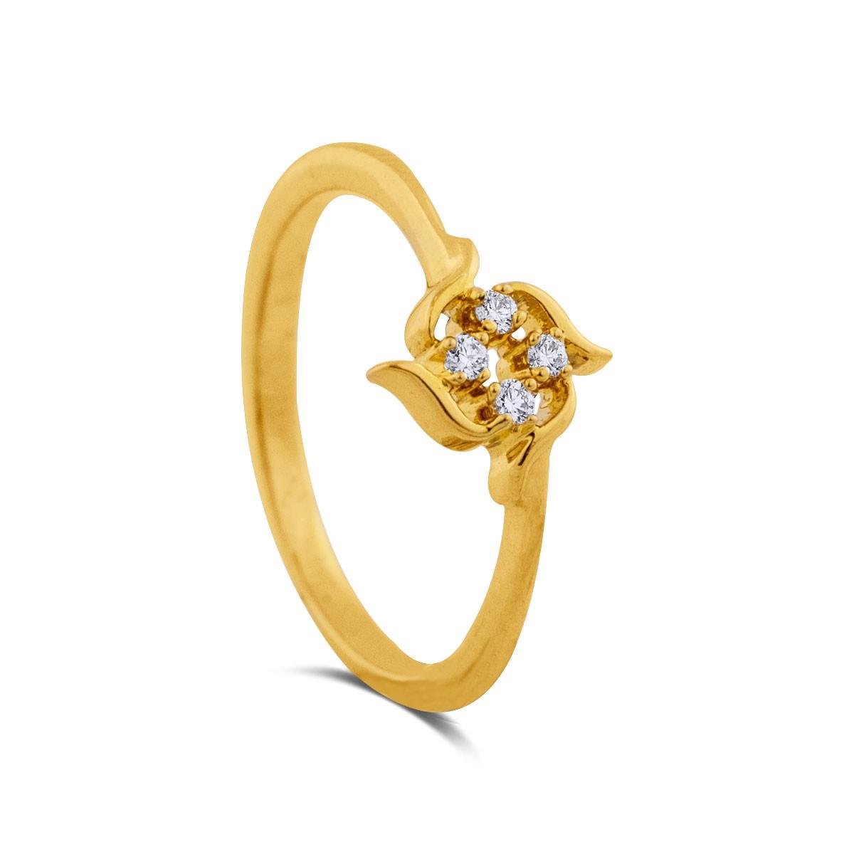 Amaya Yellow Gold Diamond Ring