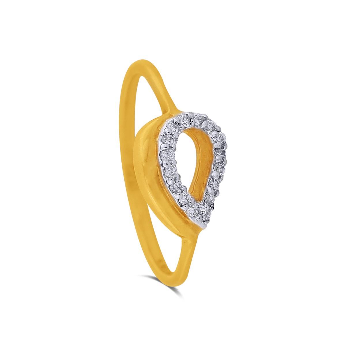 Thesally Yellow Gold Diamond Ring