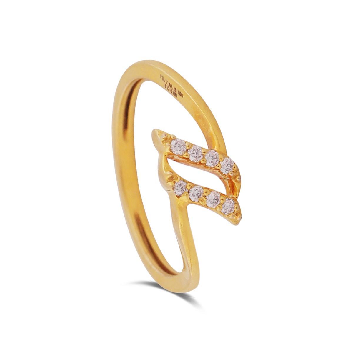 Annalise Yellow Gold Diamond Ring