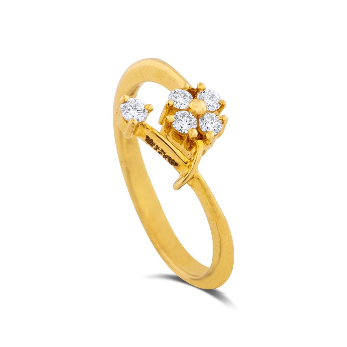 Batsheva Yellow Gold Diamond Ring