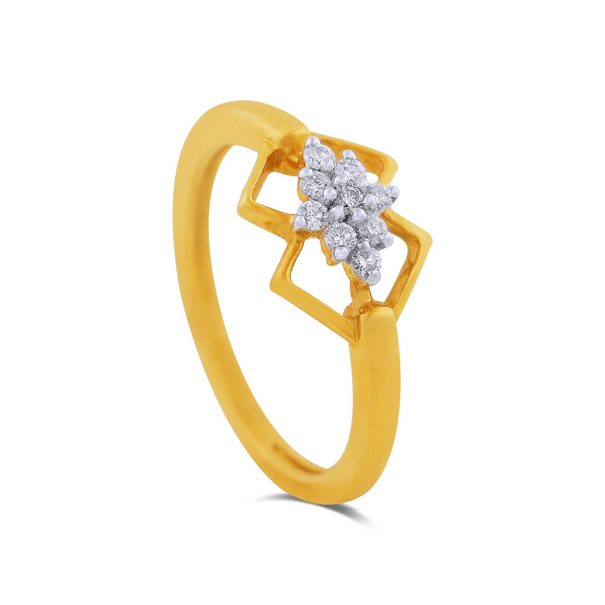 Varya Yellow Gold Diamond Ring