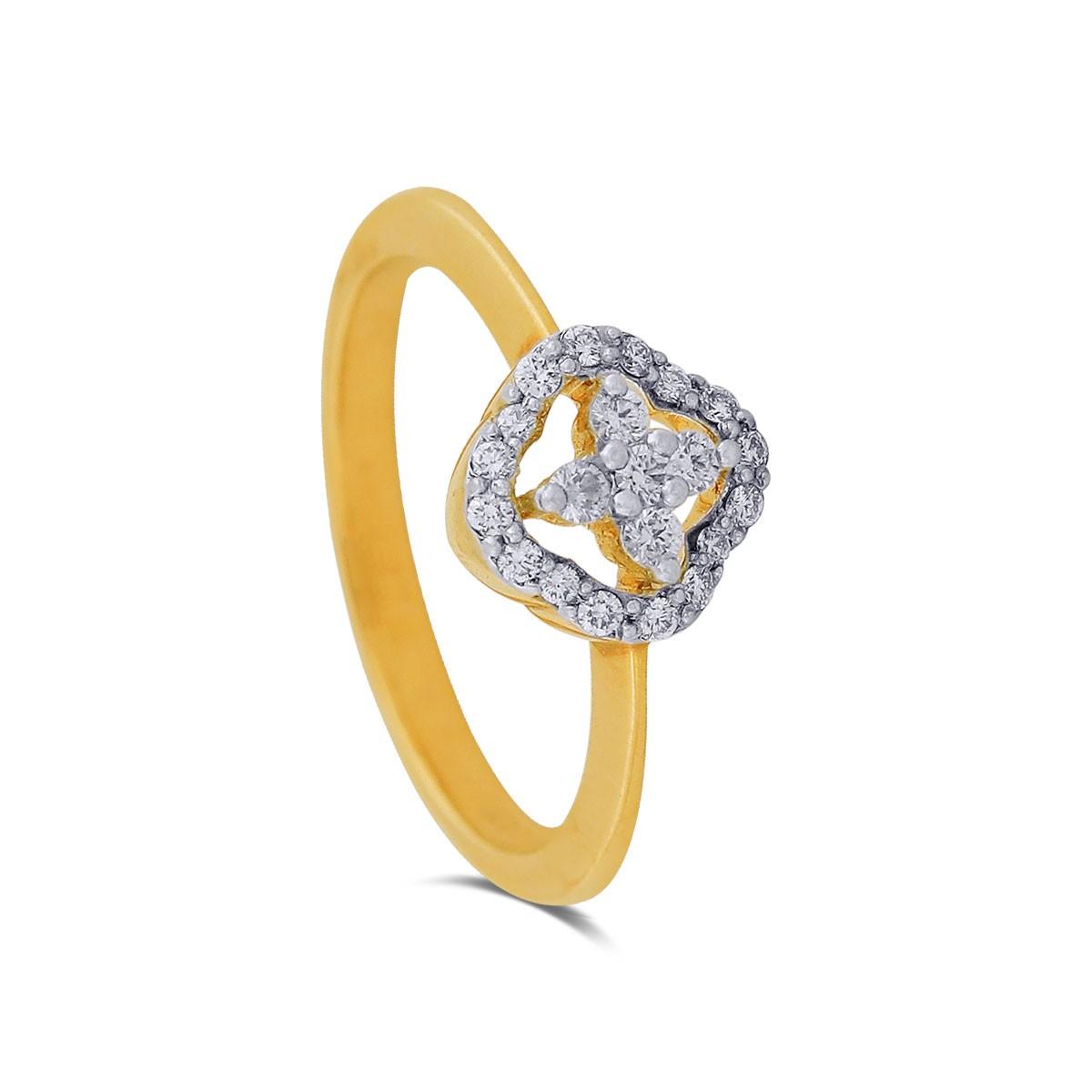 Ameya Diamond & Yellow Gold Ring