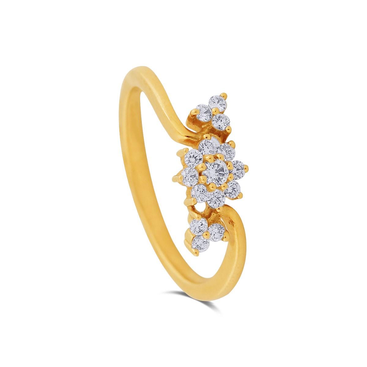 Kiara Diamond & Yellow Gold Ring
