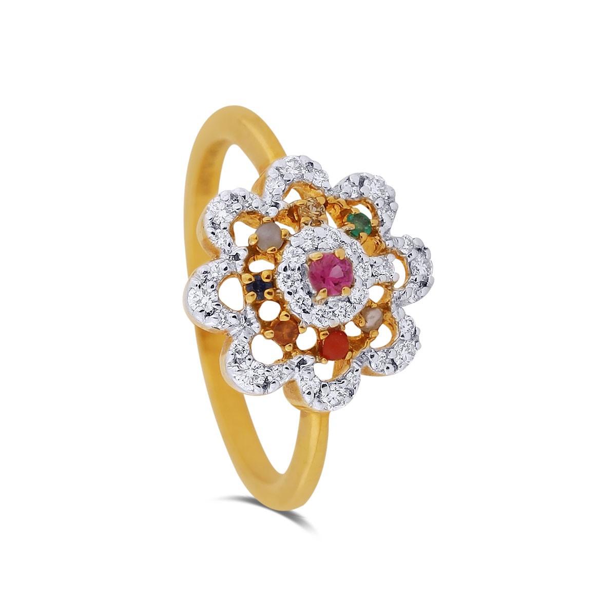 Phoebe Yellow Gold Diamond Ring