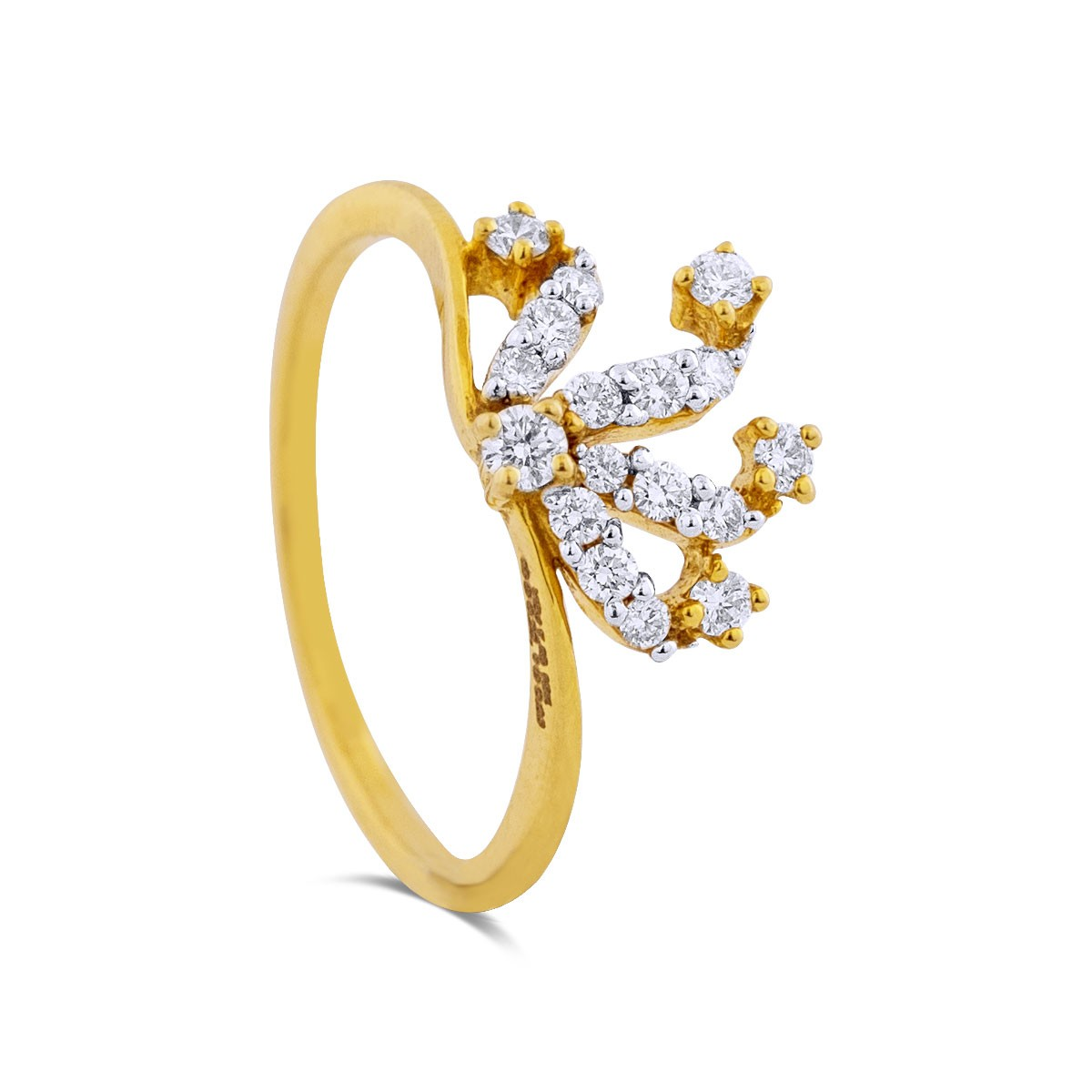 Coraline Yellow Gold Diamond Ring