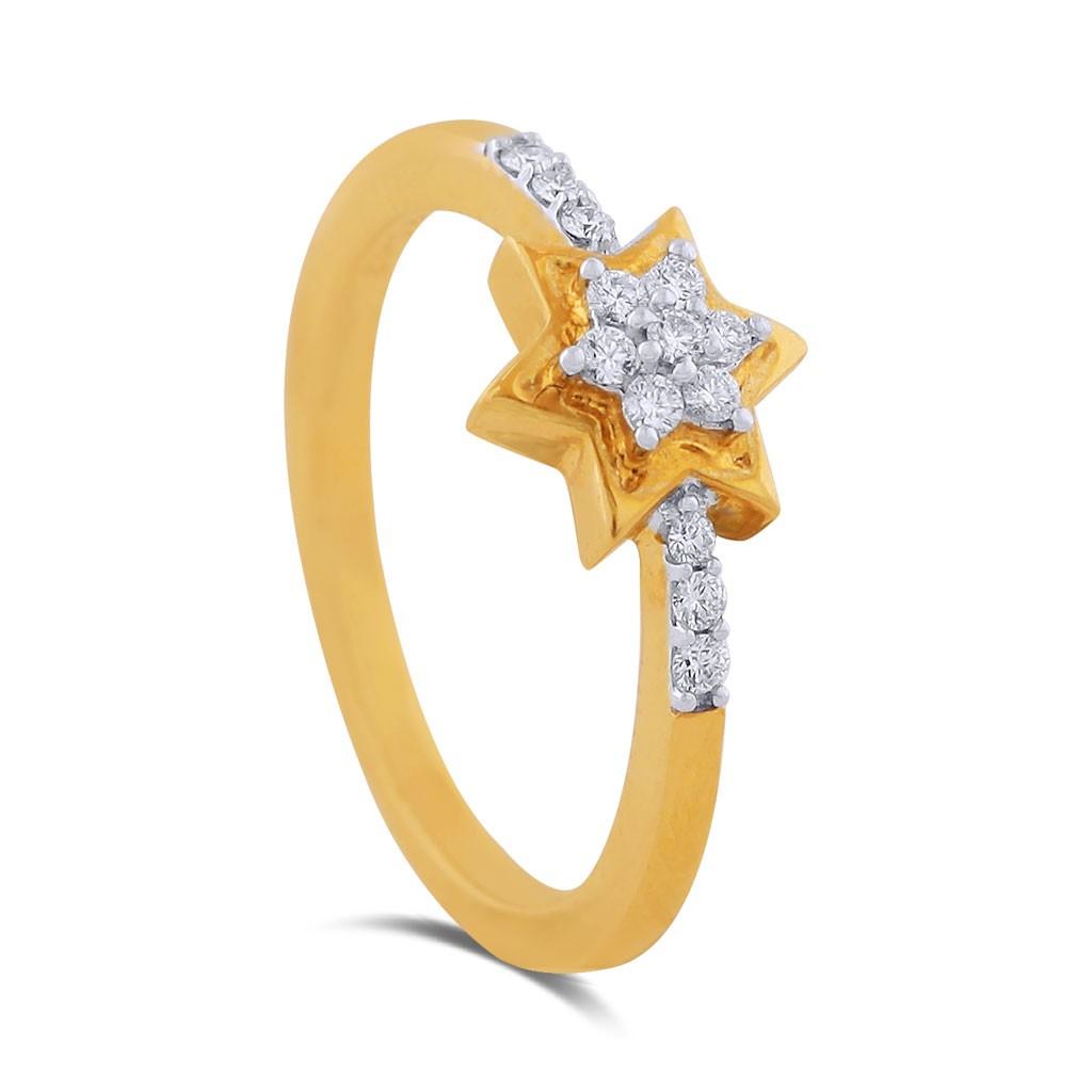 Soha Yellow Gold Diamond Ring