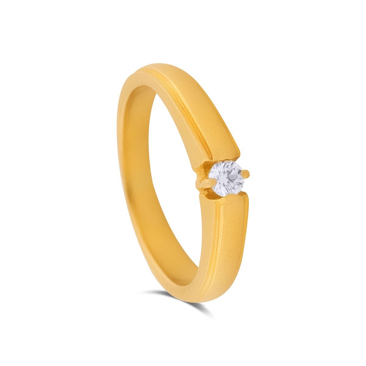 Ria Yellow Gold Diamond Ring