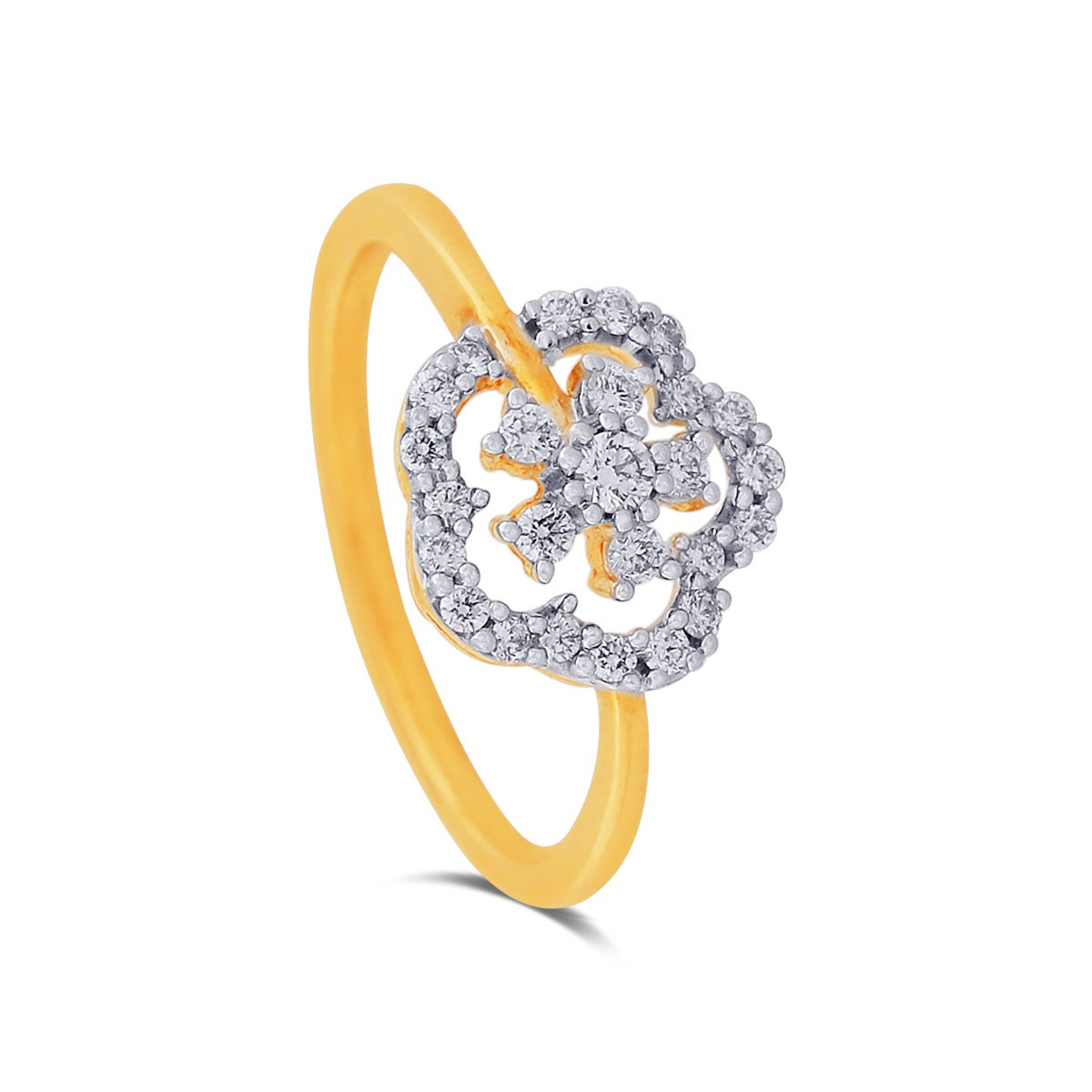 Niobe Yellow Gold Diamond Ring