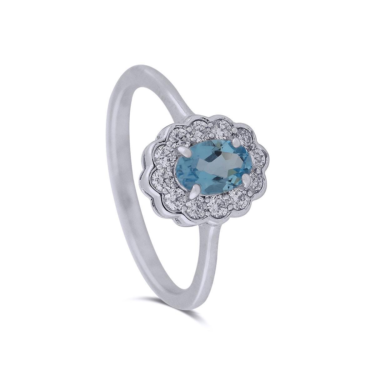 Sappho White Gold Diamond Ring