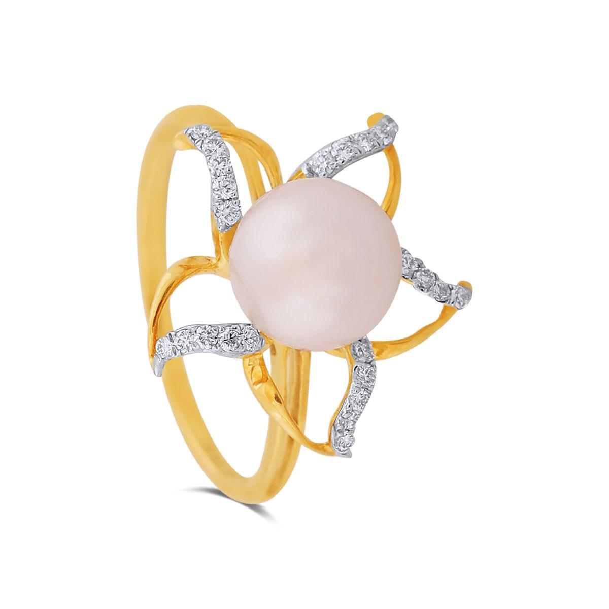 Tara Yellow Gold Diamond Ring