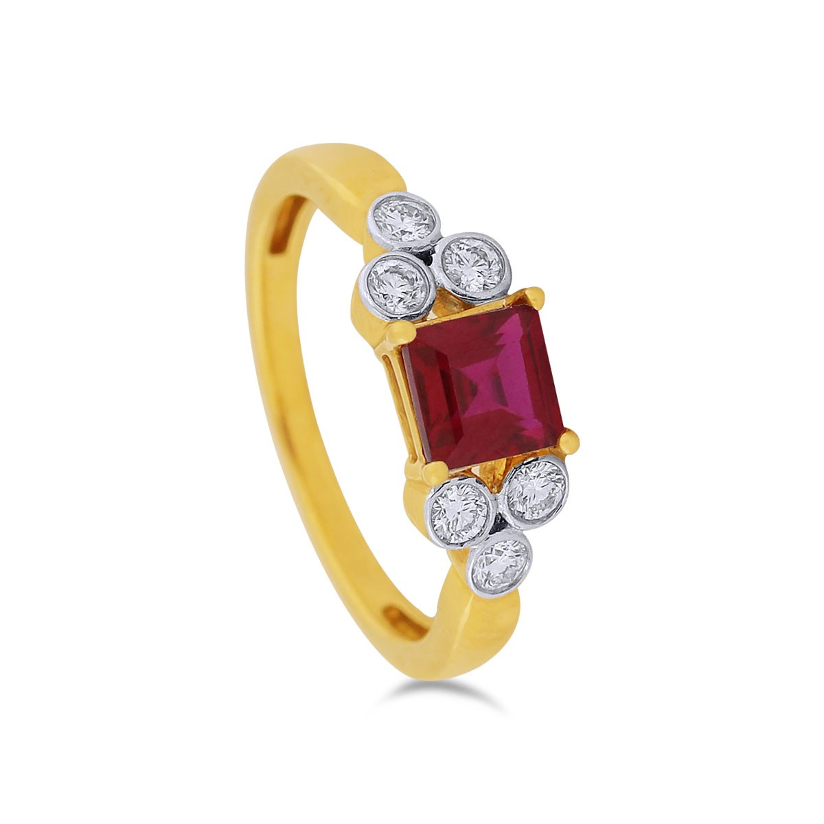Odelia Yellow Gold Diamond Ring
