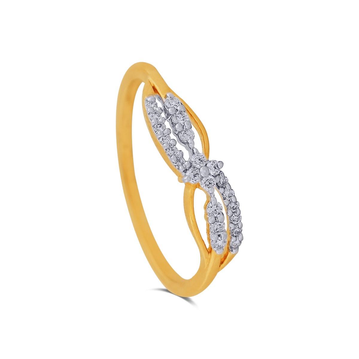 Erica Yellow Gold Diamond Ring
