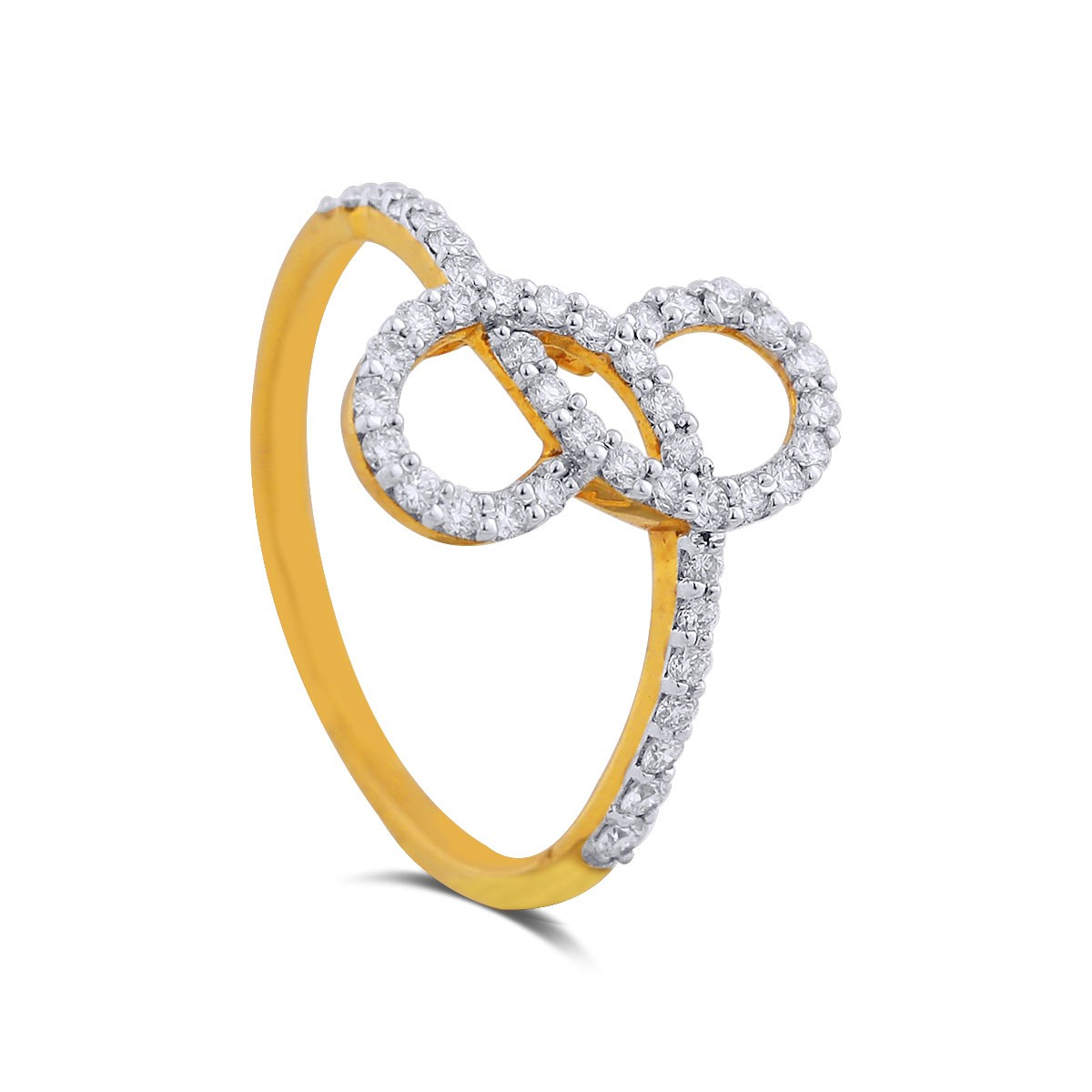 Infinity Yellow Gold Diamond Ring