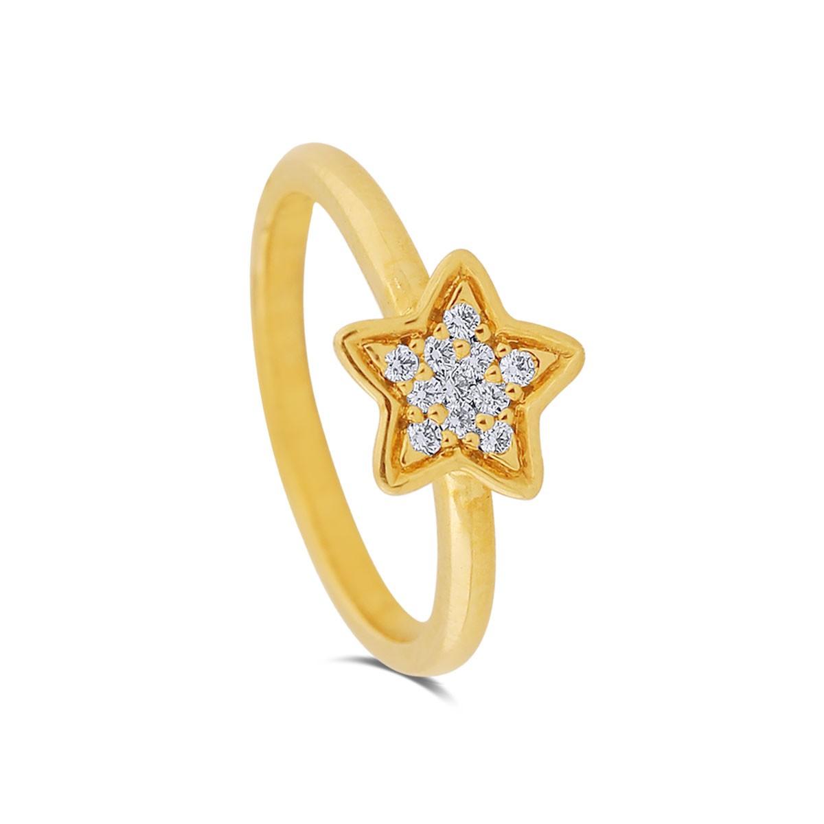 Estelle Yellow Gold Diamond Ring