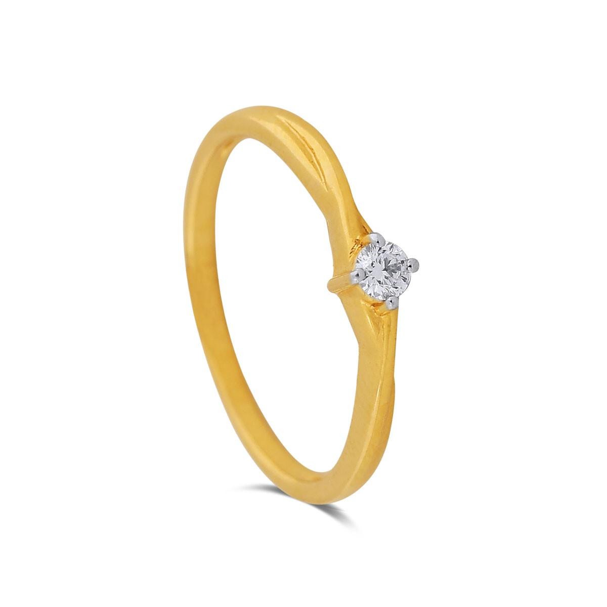Darlene Yellow Gold Diamond Ring