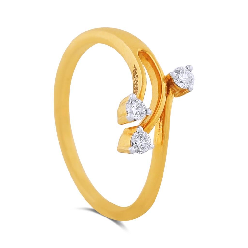 Lorelei Yellow Gold Diamond Ring