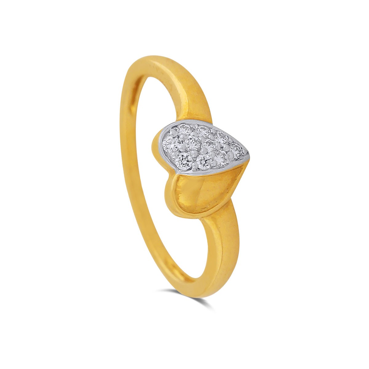 Adora Heart Yellow Gold Diamond Ring