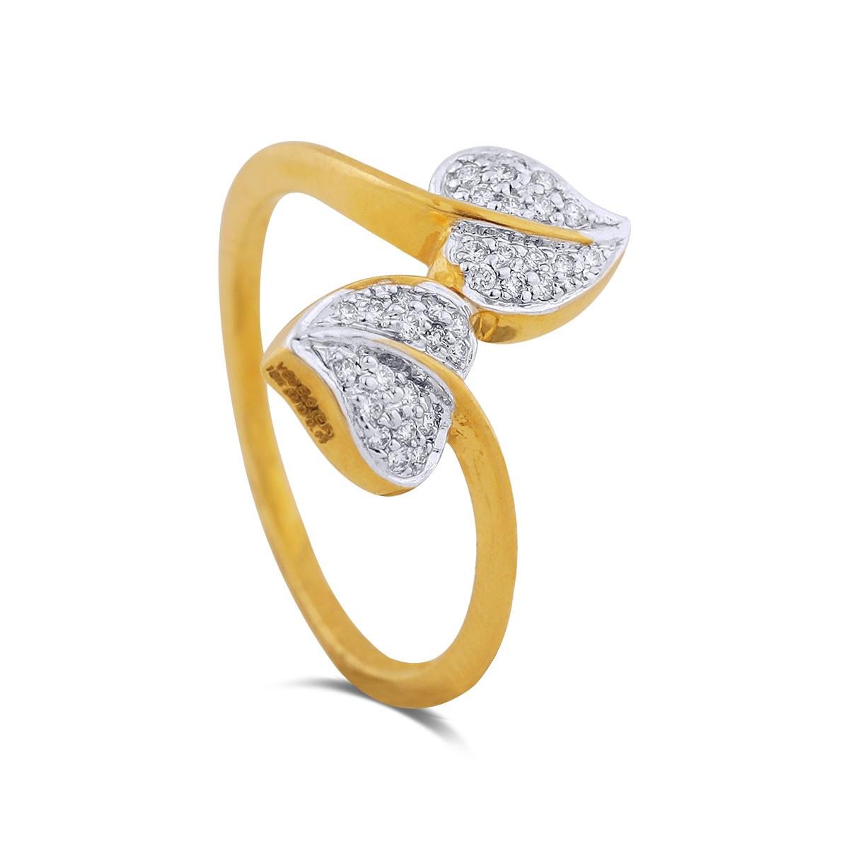 Josie Yellow Gold Diamond Ring