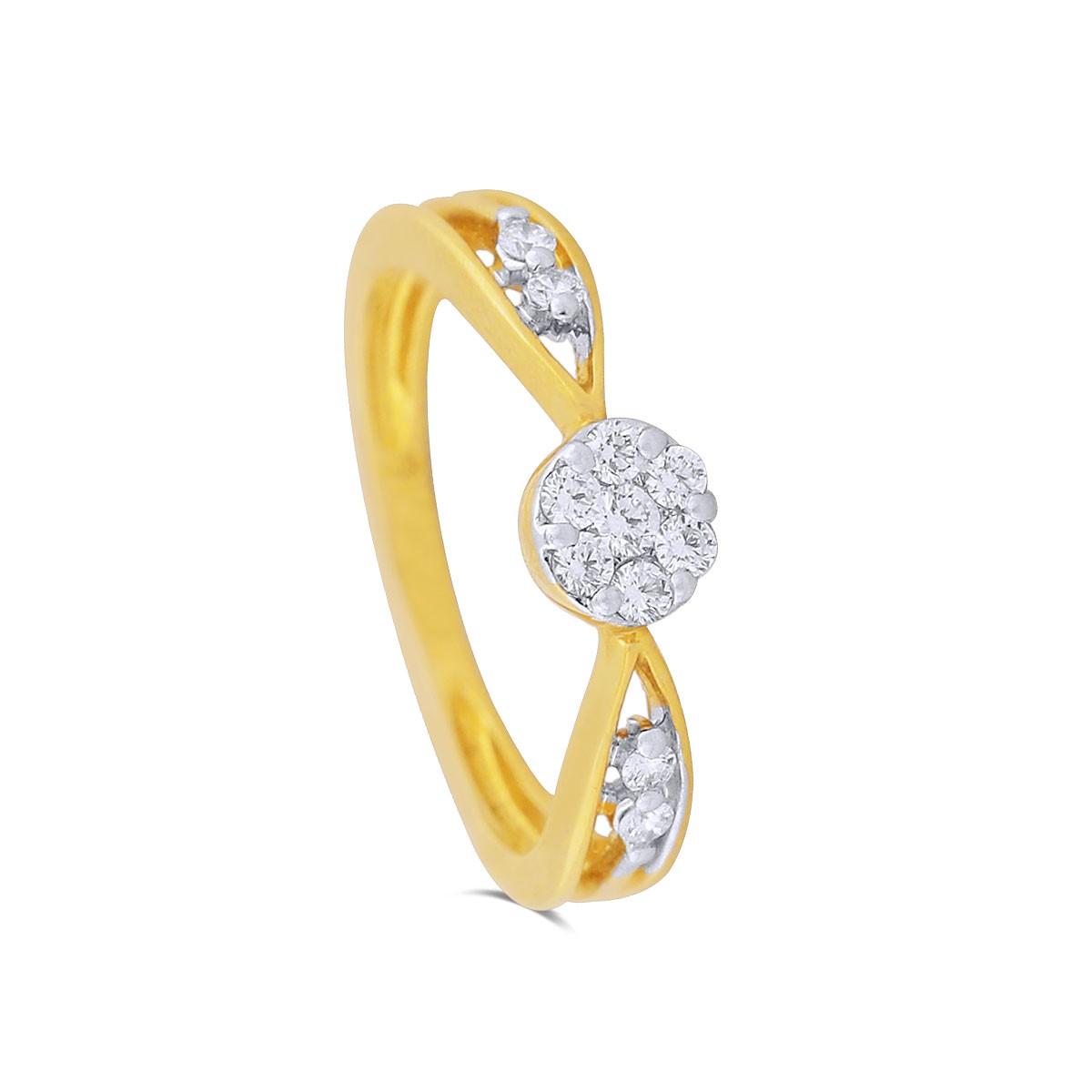 Brenna Yellow Gold Diamond Ring