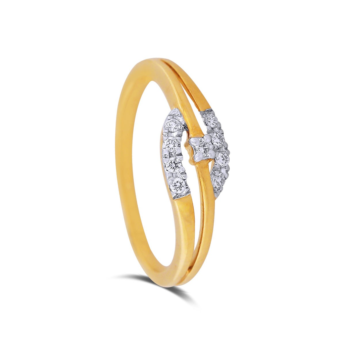 Brisa Yellow Gold Diamond Ring