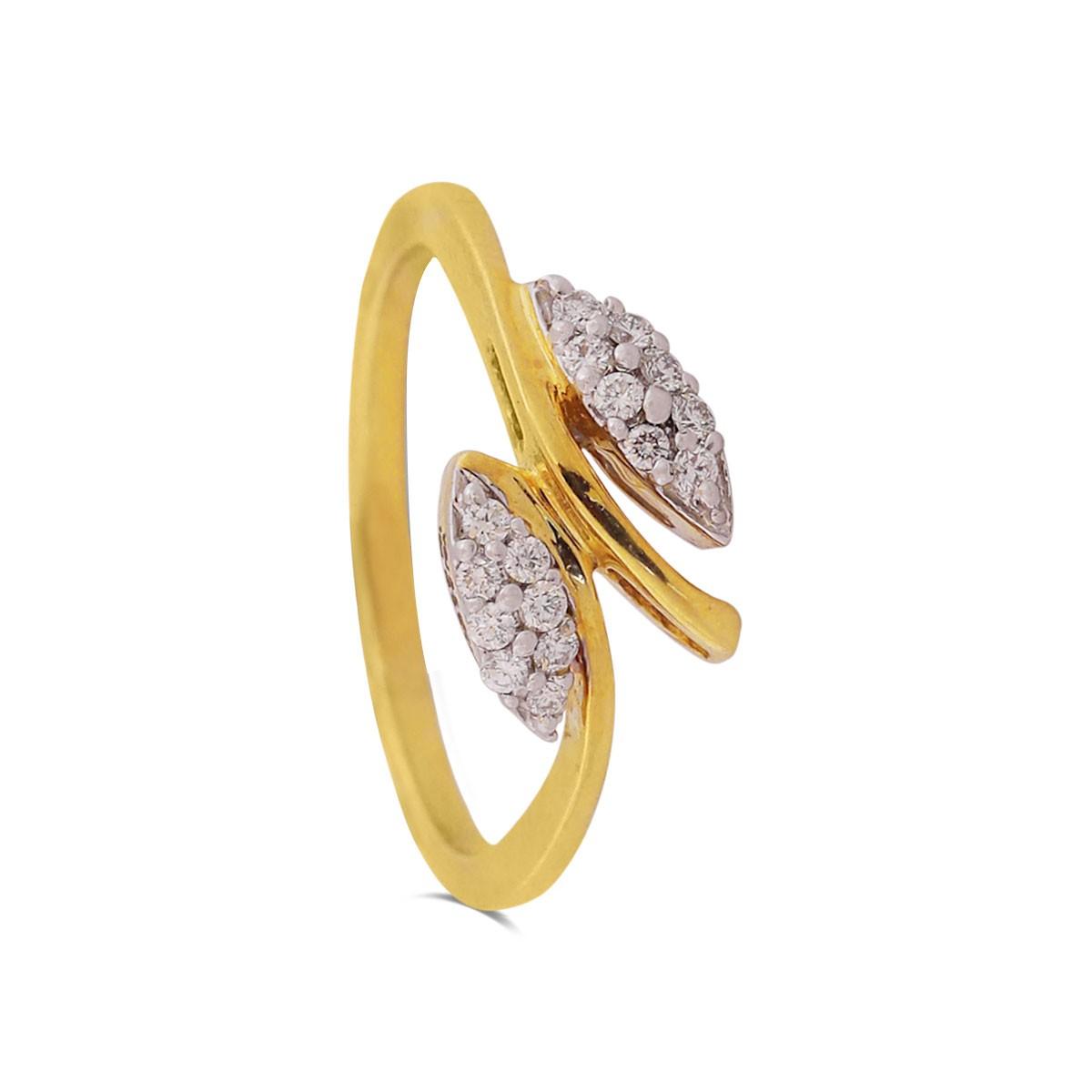 Brigitte Yellow Gold Diamond Ring