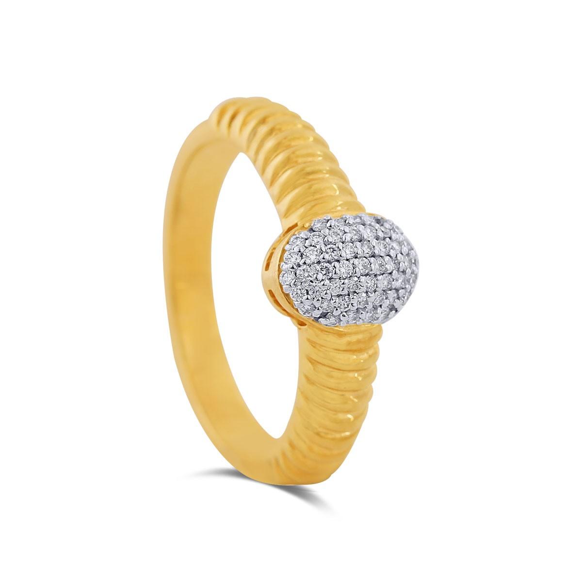 Callie Yellow Gold Diamond Ring