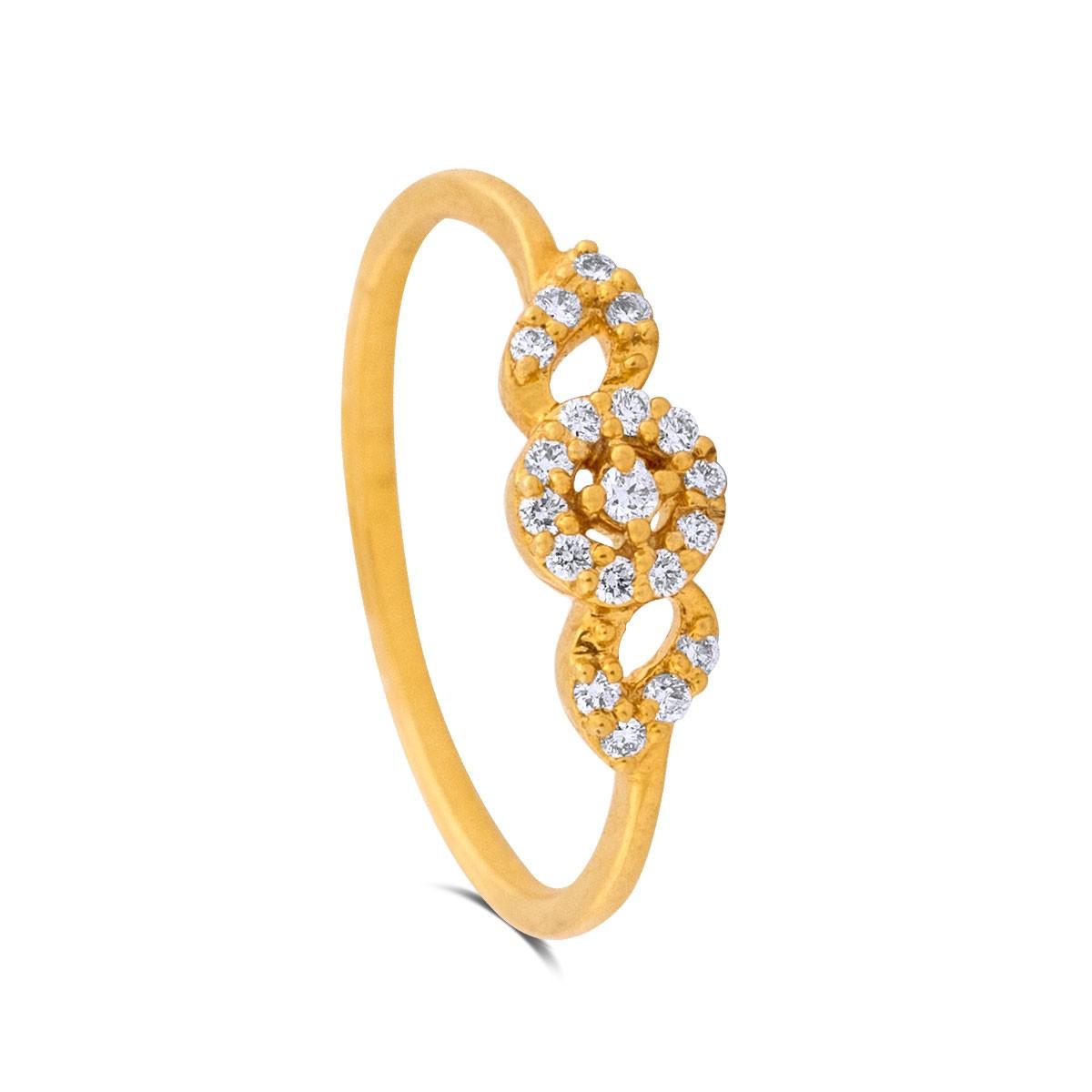 Camryn Yellow Gold Diamond Ring