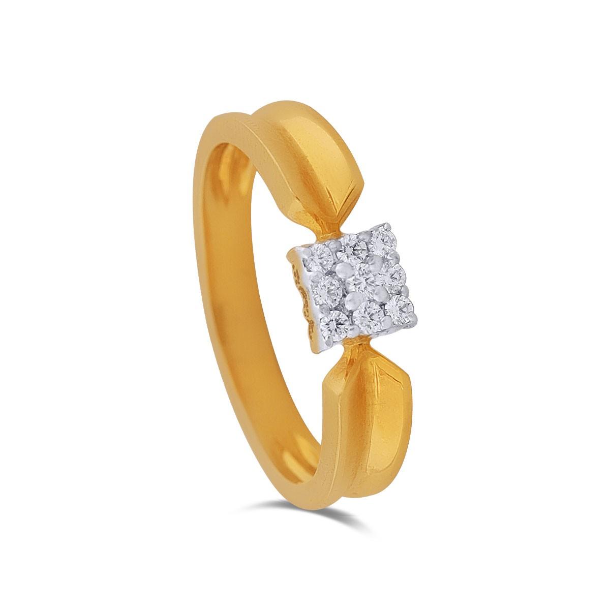 Clarissa Yellow Gold Diamond Ring