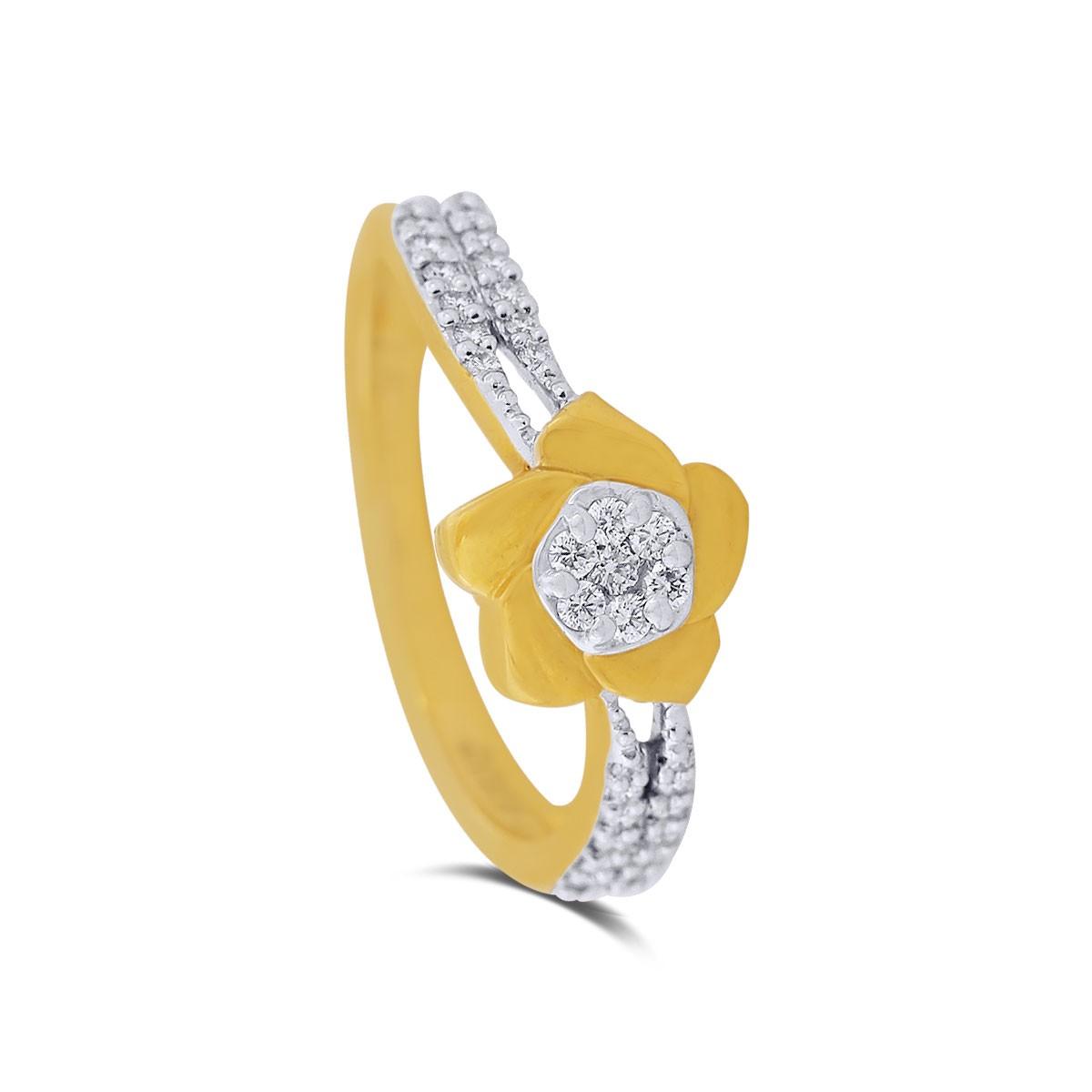 Davina Yellow Gold Diamond Ring