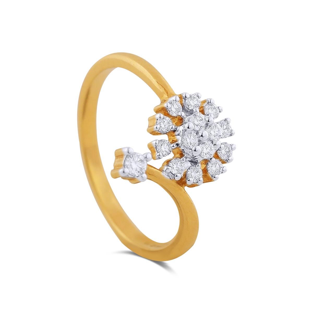 Deanna Yellow Gold Diamond Ring