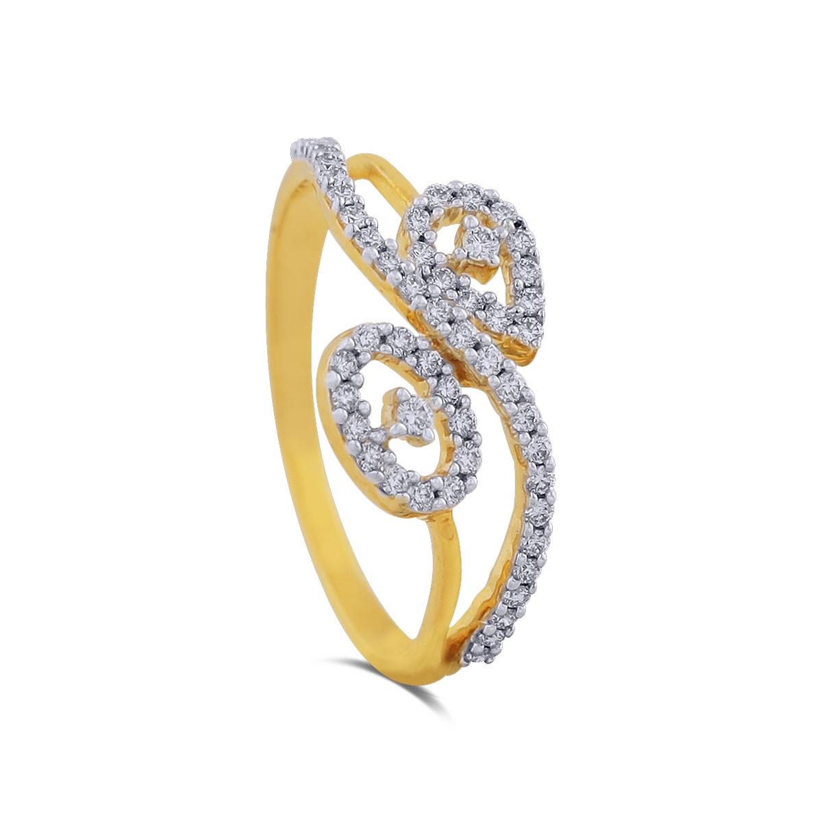 Briar Yellow Gold Diamond Ring