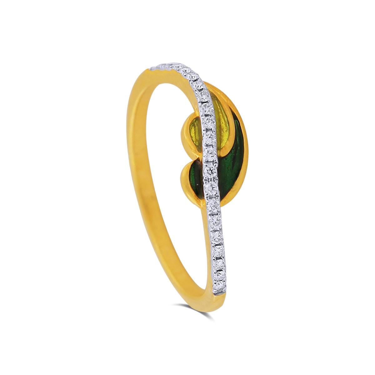 Elise Yellow Gold Diamond Ring