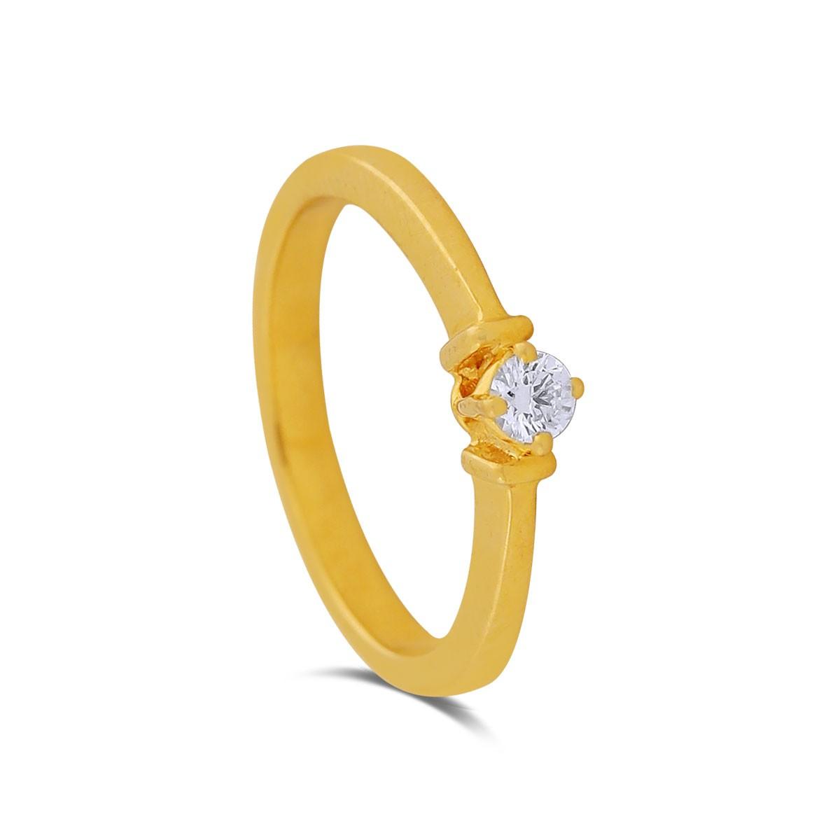 Mahua Yellow Gold Diamond Ring