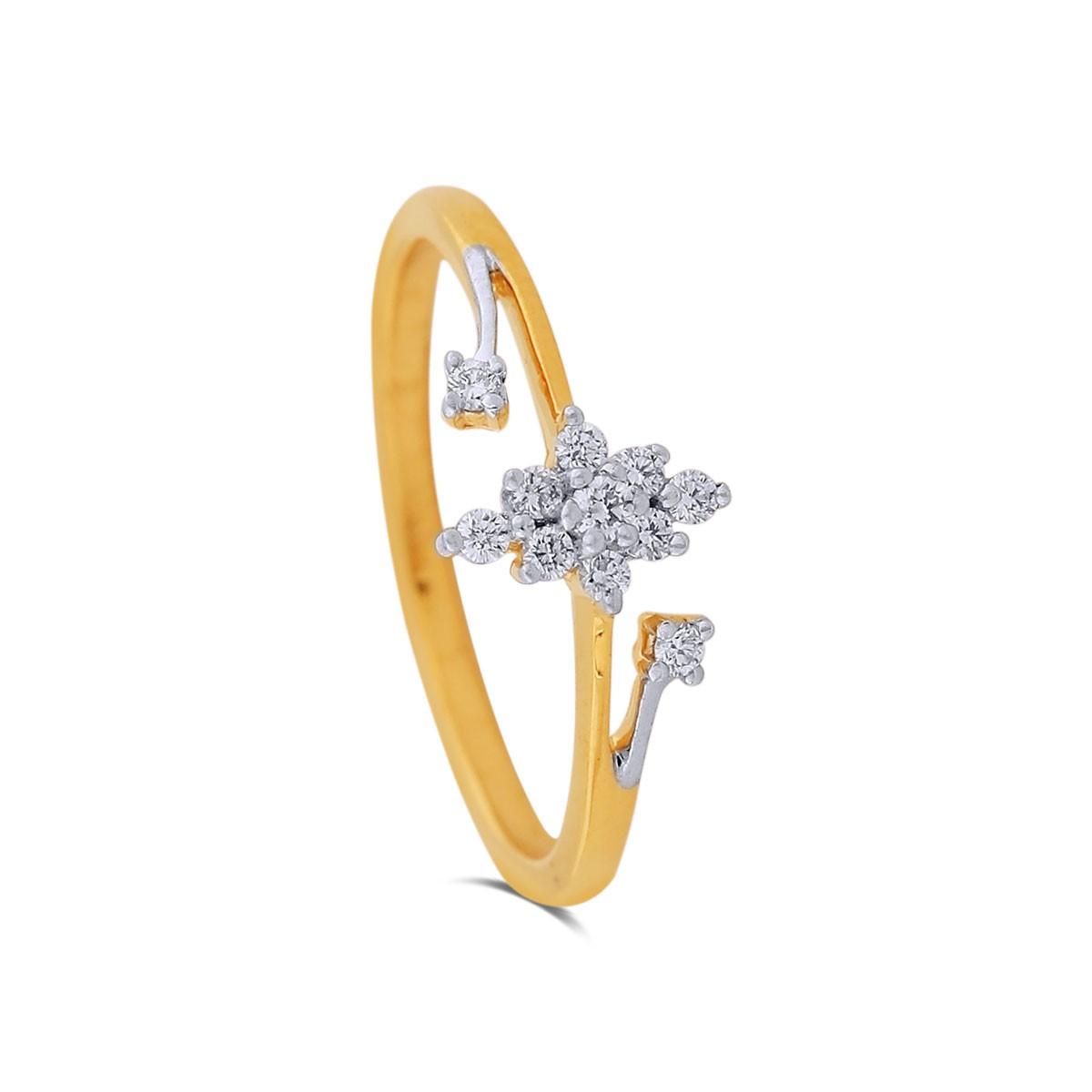 Elin Yellow Gold Diamond Ring
