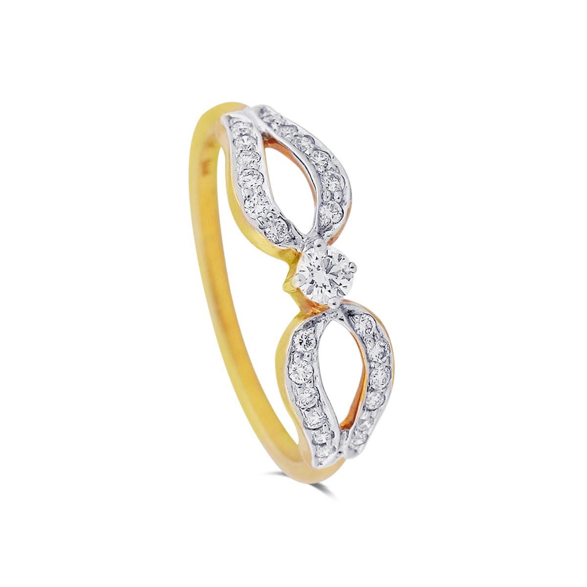 Taina Yellow Gold Diamond Ring