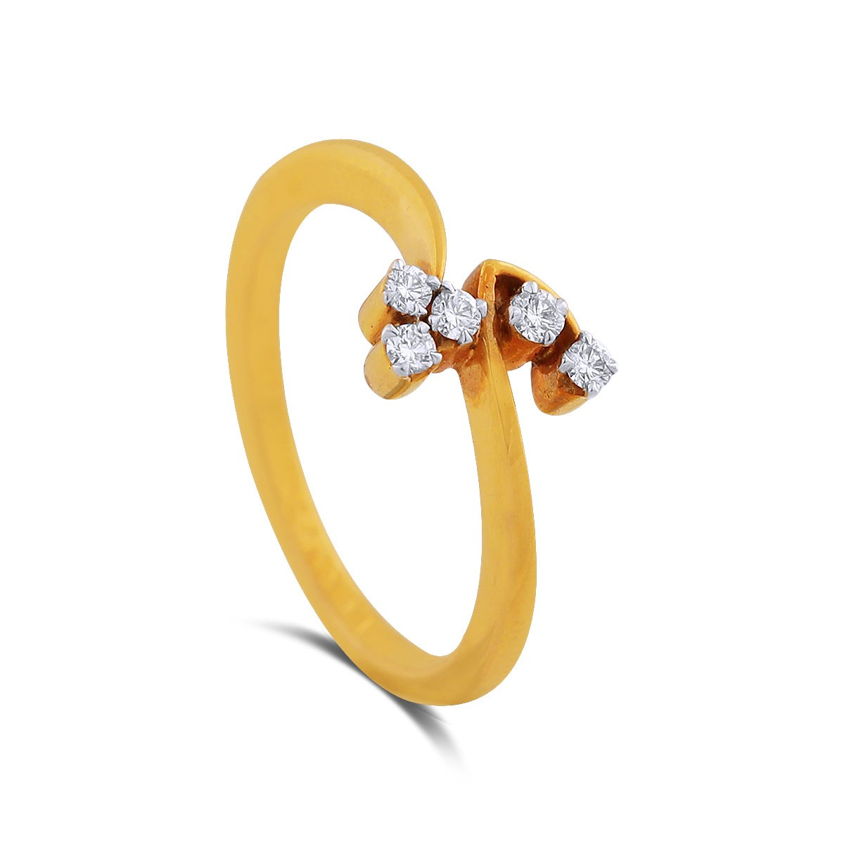 Tayvia Yellow Gold Diamond Ring