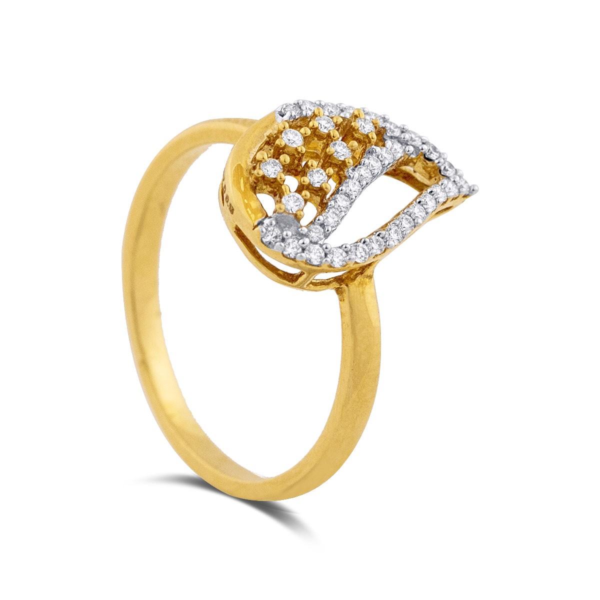 Tanya Yellow Gold Diamond Ring